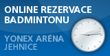 badminton arena Brno -Jehnice, online rezervace